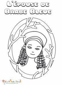 Coloriage de l'épouse de Barbe Bleue