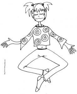 coloriage fille position zen