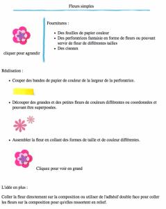 Fleurs simples version à imprimer