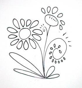 Imprimer le modèle de fleur pour peindre une assiette de décoration