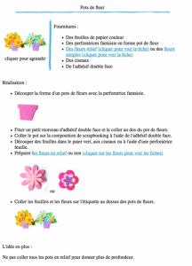 Pots de fleur version à imprimer