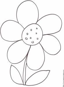 coloriage d'une grosse fleur