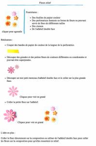 Fleurs relief version à imprimer