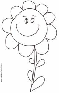 Grosse fleur à colorier