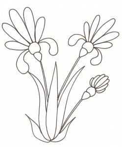 coloriage d'un bouquet de fleurs