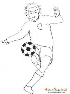 Coloriage d'un joueur de foot équipe de foot du Japon
