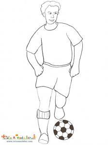 Coloriage footballeur, coloriage joueur de foot