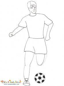 Dessin sur le foot a imprimer