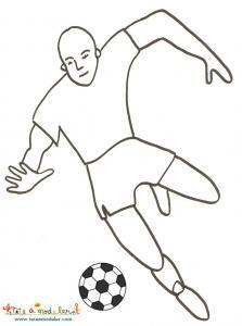 coloriage sur le foot, un coloriage a imprimer