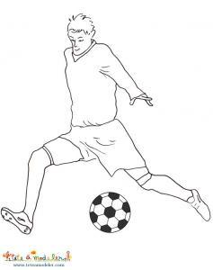 Coloriage du joueur de l'équipe de foot de Slovenie