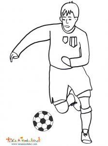 Coloriage foot, coloriage d'un joueur de foot