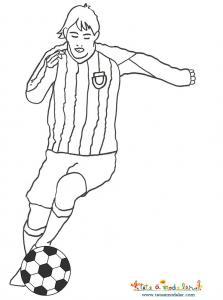 Coloriage joueur de foot équipe d'argentine