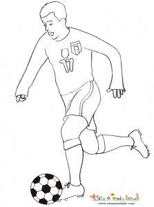 coloriage joueur de foot équipe de foot d'Italie