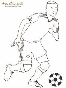 Coloriage joueur de foot de l'équipe du Mexique