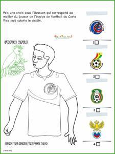 Activité sur le maillot du Costa Rica
