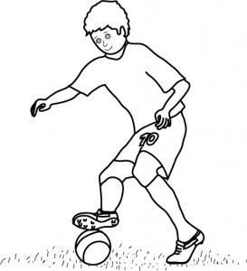 Un joueur de football à imprimer et à colorier gratuitement.