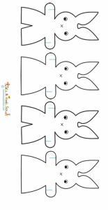 Modèle de lapin pour guirlande de Pâques