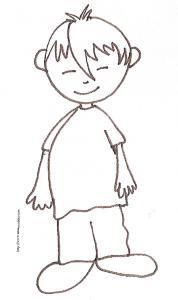 Coloriage du garçon à la mèche