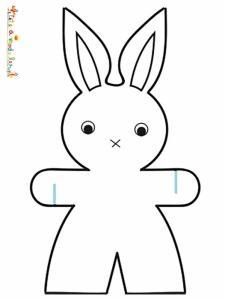 Grand lapin garçon à colorier pour une guirlande
