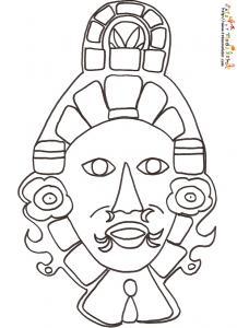Coloriage masque Inca
