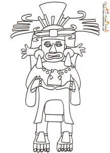 Coloriage statuette Inca