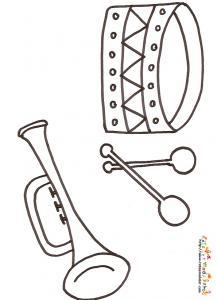 Coloriage Facile Instruments.Coloriages D Instruments De Musique Et Sur L Univers De La