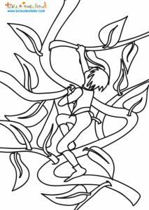 Coloriage de Jack sur le haricot magique