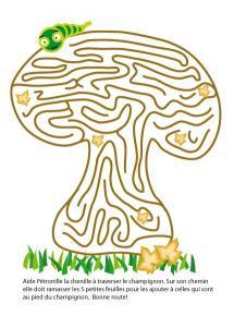 Jeu champignon sur l'automne