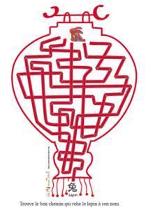 Jeu de fils mêlé: la lanterne chinoise