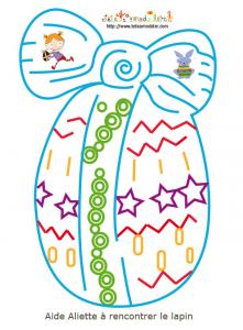 jeu de labyrinthe oeuf de Pâques : Aliette et le lapin