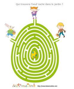jeu de labyrinthe : l'oeuf dans le labyrinthe