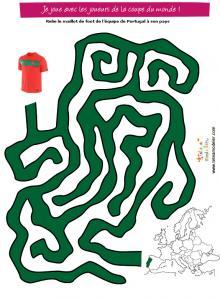 Labyrinthe : le maillot de foot du Portugal