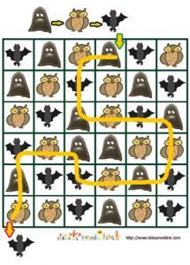 Solution du jeu de suite logique : monstres de la nuits