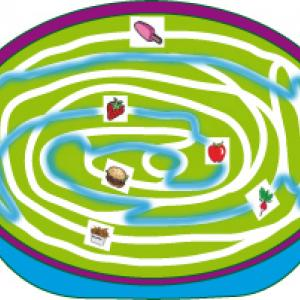 solution du Jeu de labyrinthe : 5 fruits et legumes