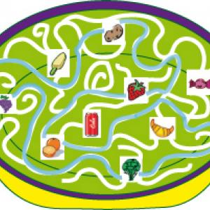 solution du Jeu de labyrinthe : l assiette gourmande