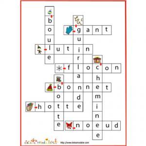 Solution jeu de mots fléchés d'hiver et de Noël