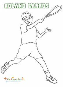 Joueur de tennis Roland Garros