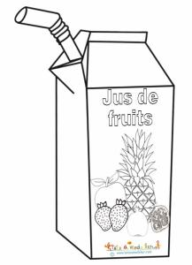 Coloriage jus de fruits