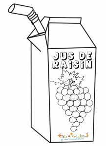 Coloriage jus de raisin