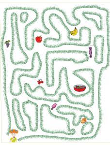 Jeu de labyrinthe salade de fruit