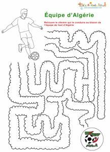 Jeu labyrinthe équipe d'Algérie