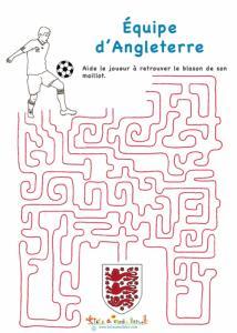 Labyrinthe avec le joueur de foot d'Angleterre