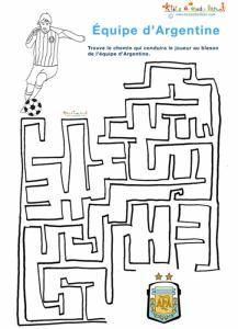 labyrinthe de foot : labyrinthe de l'équipe d'Argentine