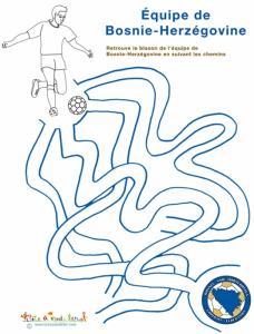 Labyrinthe de foot avec la Bosnie Herzégovine