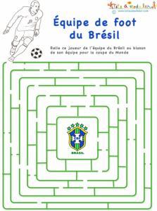 Labyrinthe équipe de foot du Brésil
