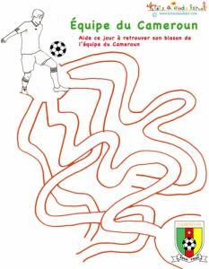 Labyrinthe de l'équipe de foot du Cameroun
