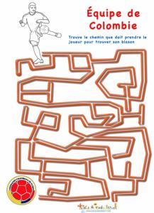 Labyrinthe sur l'équipe de Colombie