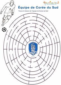 Labyrinthe foot Corée du Sud