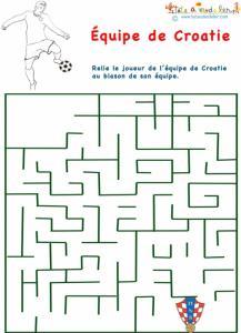 Labyrinthe de l'équipe de foot de Croatie