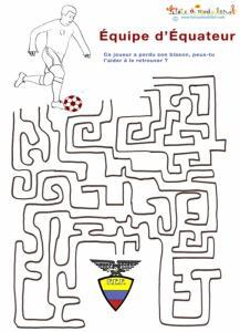Labyrinthe équipe de foot d'Equateur